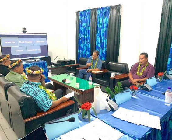 Governor Narruhn Pays Courtesy Visit to Speaker Simina and Delegation